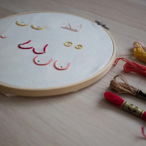 Pause Moderne -Box creative et gourmande Article blog -Broderie sein