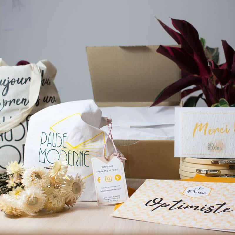 Pause Moderne - Box créative et gourmande Optimiste Création Bougie