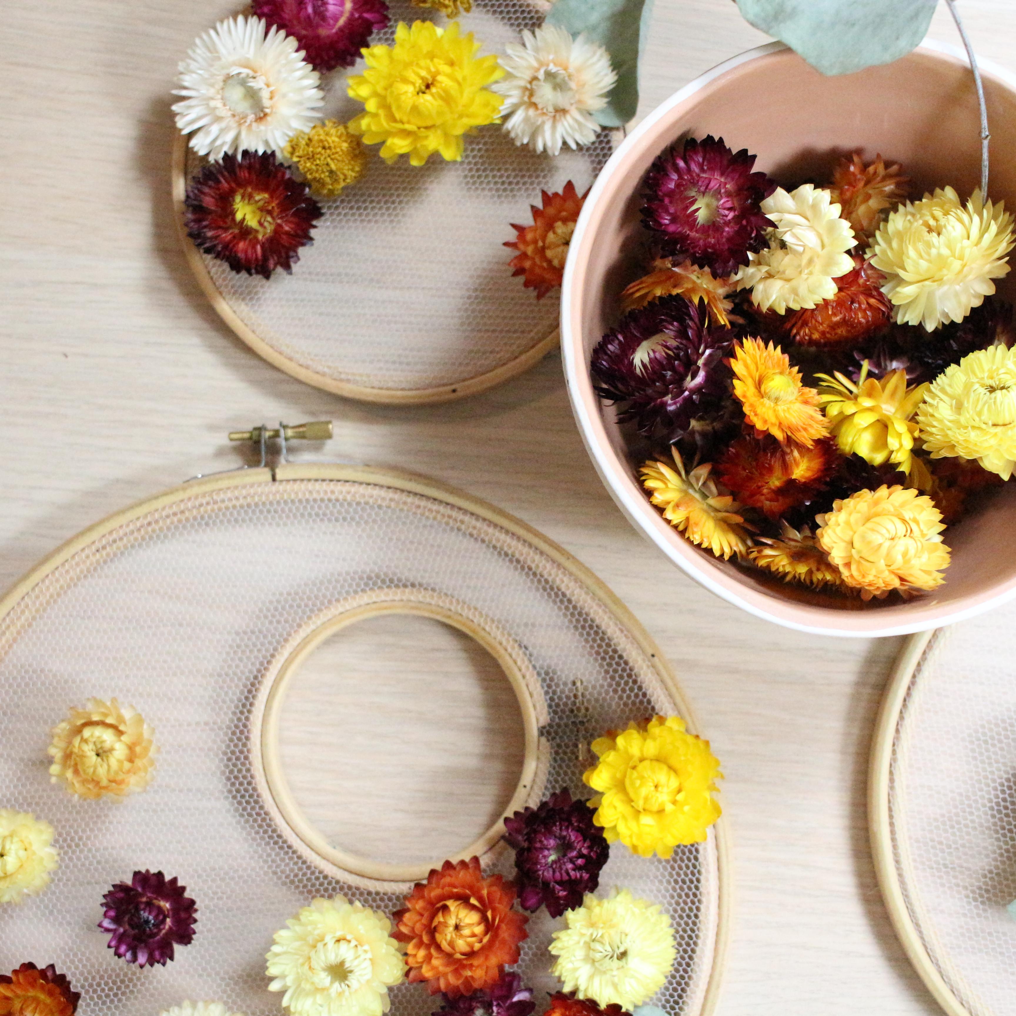 Comment Conserver Des Fleurs Séchées petites fleurs séchées orange diy   pause moderne