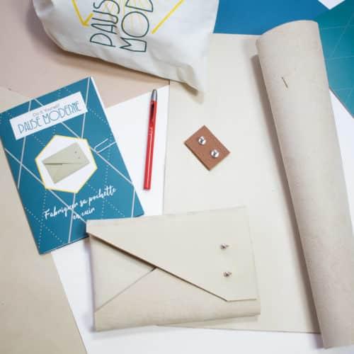 Pause Moderne - Kit DIY Pochette en cuir