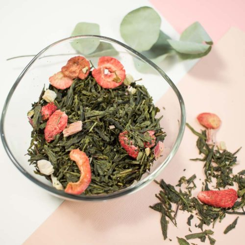 PAUSE MODERNE - Box minutieuse - Origami fruitée thé vert fraise rhubarbe