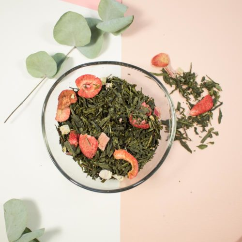 Thé vert fraise & rhubarbe – Origami Fruité