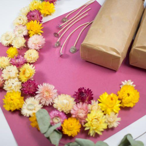 PAUSE MODERNE - box bougie fleurs XXL_
