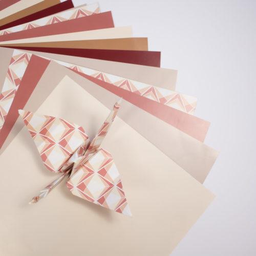 Lot de 25 feuilles Origami & Plioir