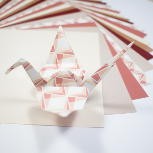 PAUSE MODERNE - lot de 25 papier origami bi motif