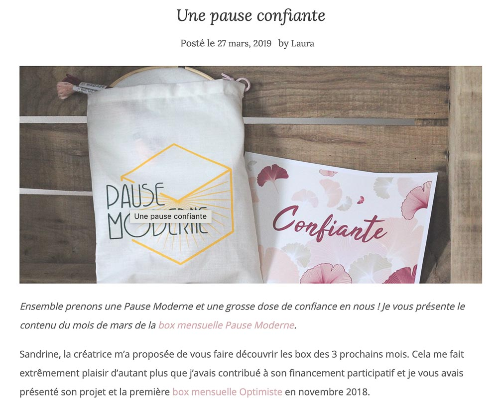 PAUSE MODERNE - article blog chala moda_