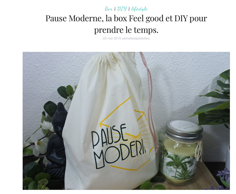 PAUSE MODERNE - Article unboxing box naturelle_