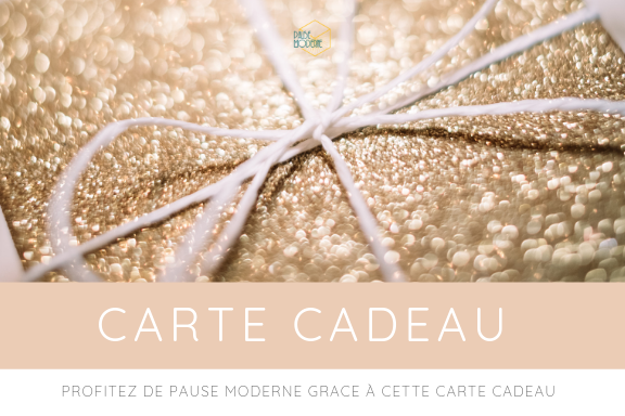 carte cadeau Pause Moderne