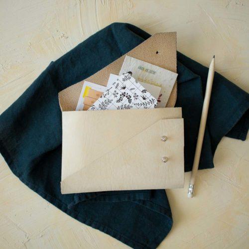 Kit Fabriquer une pochette en cuir