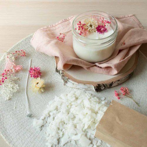 PAUSE MODERNE - Box fête des meres - Kit bougie fleurs séchées-2