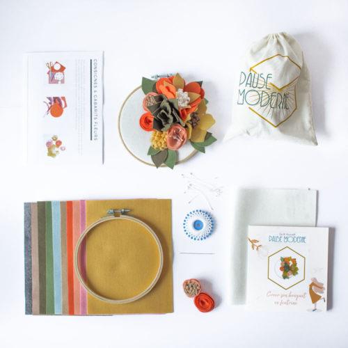 Kit DIY – Créer son bouquet fleurie en feutrine