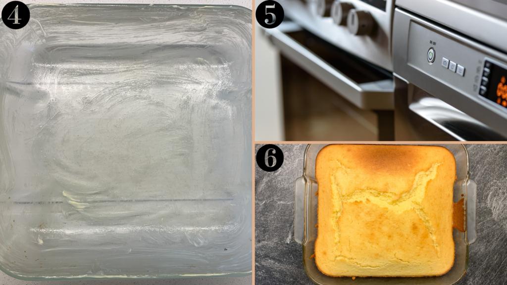 étapes 4, 5, 6 du gâteau au miel et à la fleur d'oranger