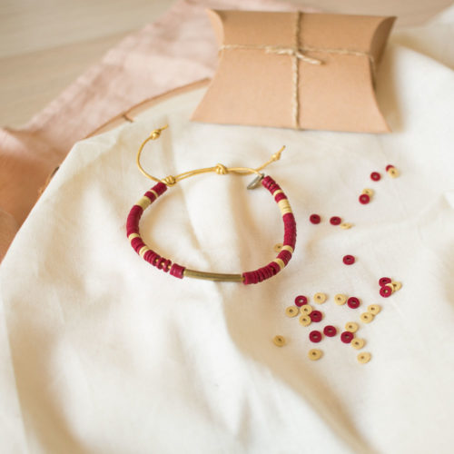 Mini Kit Do It Yourself – Bracelet en cuir & heishi