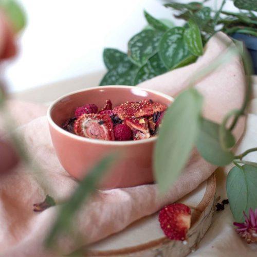 Infusion Framboise vanille – Rose Volupté