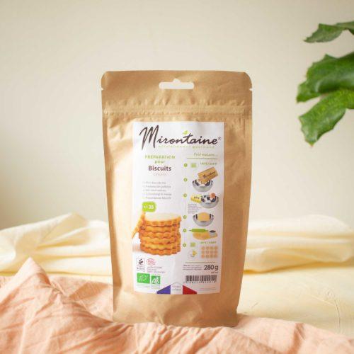 Préparation de biscuits nature BIO – Mirontaine