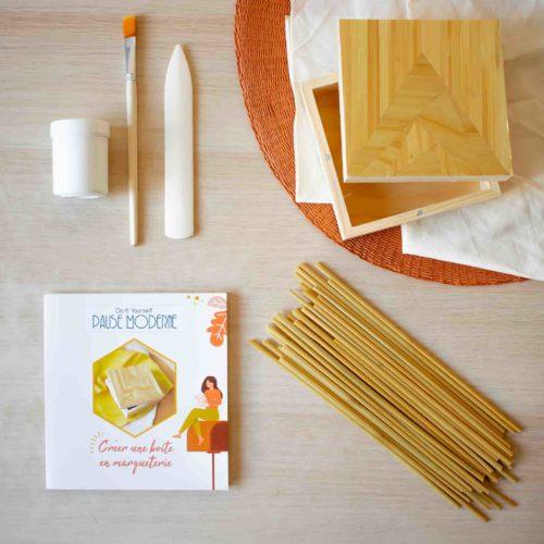 Kit DIY -Créer une boite en marqueterie