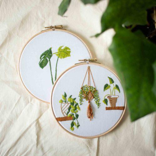 Kit DIY – Réaliser sa broderie plante