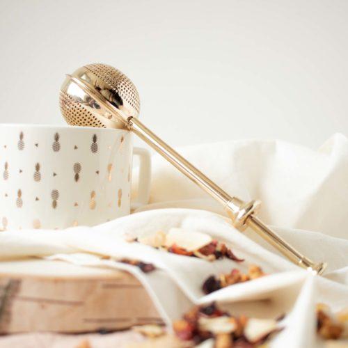 Boule à thé zéro déchet version or