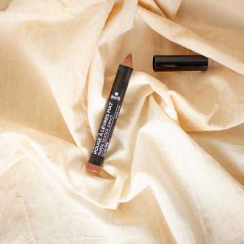 Crayon rouge à lèvres mat Argile Rose Certifié bio – AVRIL