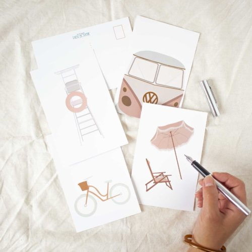 PAUSE MODERNE - Lot carte postal été dessin moderne (1 sur 1)