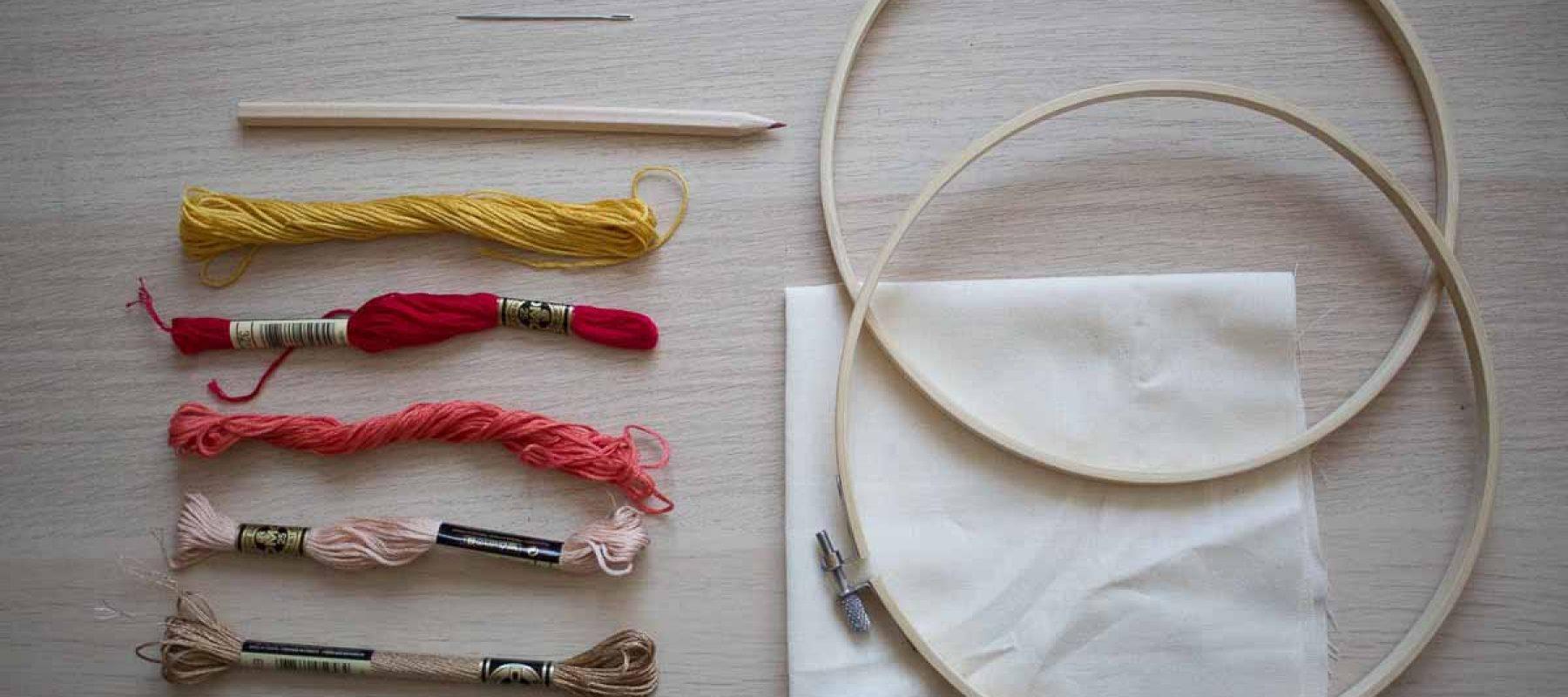 Pause Moderne -Box creative et gourmande Article blog -Broderie le matériel qu'il faut